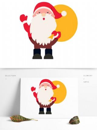 可愛卡通圣誕老公公可商用元素