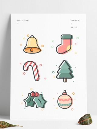 meb圣誕可愛矢量元素