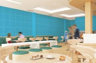 餐廳壁紙樣機