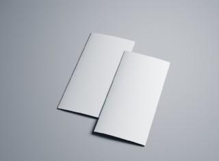 三折頁樣機模板
