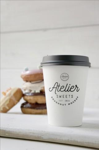 咖啡杯紙杯樣機模板