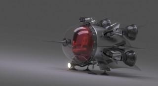 創意科技感飛船
