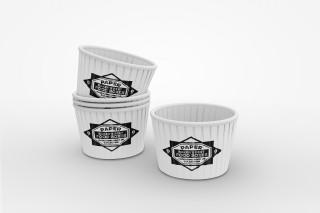 蛋糕杯子冰淇淋杯樣機模板