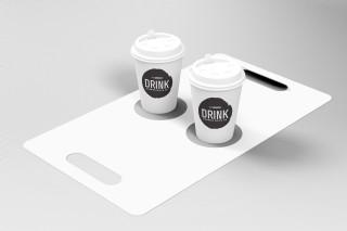 咖啡外賣包裝樣機