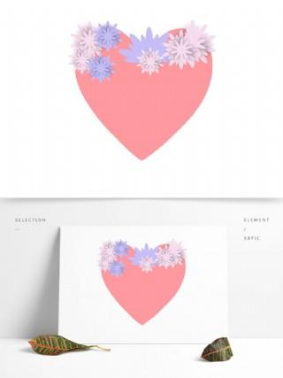 爱心花纹图案造型可商用
