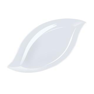 白色柳葉白色精致盤子PSD透明底