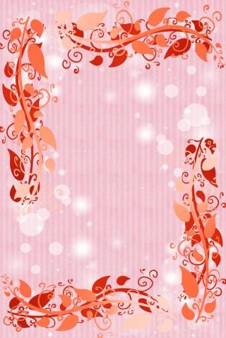 粉色歐式花紋邊框電商淘寶背景H5