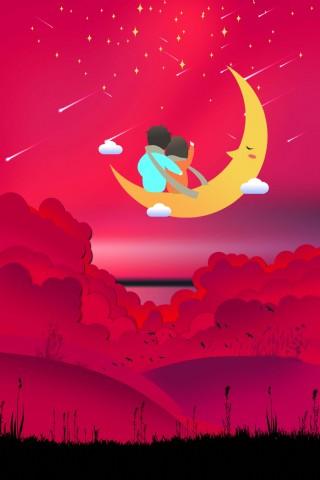 浪漫紅色國際接吻日