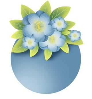 春天花朵和叶?#28216;?#26412;框
