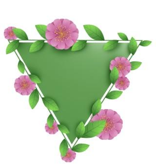 三角形花朵立体文字框